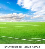 football field against the sky | Shutterstock . vector #353573915