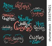 merry christmas and happy new... | Shutterstock .eps vector #353574821