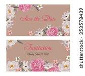 flower wedding invitation card  ...   Shutterstock .eps vector #353578439