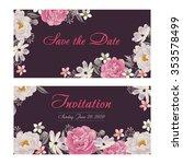 flower wedding invitation card  ... | Shutterstock .eps vector #353578499