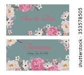 flower wedding invitation card  ... | Shutterstock .eps vector #353578505