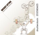 illustration of weight lifting. ... | Shutterstock .eps vector #353580605