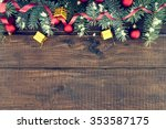 composition with decorated... | Shutterstock . vector #353587175