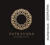 luxury boutique hotel logo... | Shutterstock .eps vector #353592944
