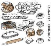 vector set of bread | Shutterstock .eps vector #353598494