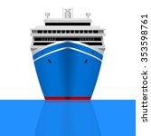 cruise ship | Shutterstock .eps vector #353598761