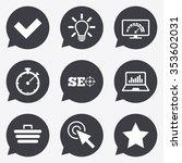 internet  seo icons. bandwidth... | Shutterstock .eps vector #353602031