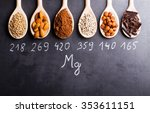 products rich in magnesium on... | Shutterstock . vector #353611151