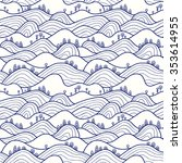 landscape pattern. vector... | Shutterstock .eps vector #353614955