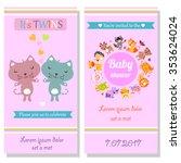 baby shower invitation card...   Shutterstock .eps vector #353624024