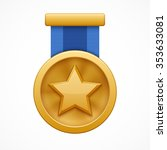 gold medal with star | Shutterstock .eps vector #353633081