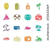 travel 16 icons universal set... | Shutterstock .eps vector #353633369