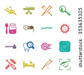medicine 16 icons universal set ... | Shutterstock .eps vector #353635325