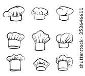 cook hat. drawn hat chef cook.... | Shutterstock .eps vector #353646611