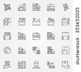 house or office moving icons  ... | Shutterstock .eps vector #353652035