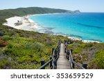 scenic panorama of cliff coast... | Shutterstock . vector #353659529