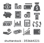money icons | Shutterstock . vector #353664221
