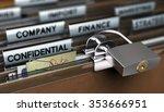 concept of poor sensitive data... | Shutterstock . vector #353666951