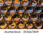 bottom of empty glass bottles | Shutterstock . vector #353667809