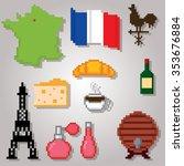 France Culture Symbols Icons...