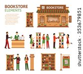 Images Set Of Bookstore...