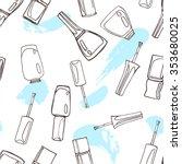 nail polish  nail lacquer ... | Shutterstock .eps vector #353680025