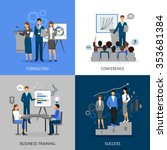 flat 2x2 images set of business ... | Shutterstock .eps vector #353681384