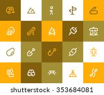 camping icons. flat style | Shutterstock .eps vector #353684081