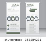 roll up banner stand template.... | Shutterstock .eps vector #353684231