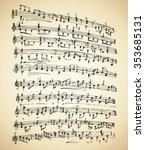 seamless grungy curve old score ... | Shutterstock .eps vector #353685131