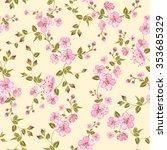 cherry blossom seamless pattern.... | Shutterstock .eps vector #353685329