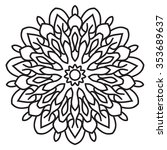 vector flower icons on white.... | Shutterstock .eps vector #353689637