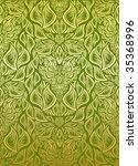 vector green and golden... | Shutterstock .eps vector #35368996