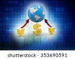 global currencies | Shutterstock . vector #353690591