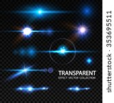 realistic lens flare elements... | Shutterstock .eps vector #353695511