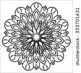 vector flower icons on white.... | Shutterstock .eps vector #353701631