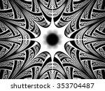 black and white fractal.... | Shutterstock . vector #353704487