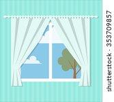 vector window flat style ... | Shutterstock .eps vector #353709857