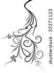 elegant floral branch | Shutterstock .eps vector #35371123