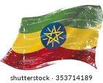 ethiopian grunge flag. a grunge ... | Shutterstock .eps vector #353714189