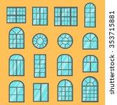 A Set Of Flat Windows. Designs...