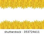 sunflower petal on white... | Shutterstock . vector #353724611