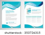 vector brochure flyer design... | Shutterstock .eps vector #353726315