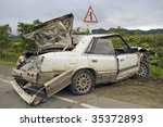 Car damage - stock photo