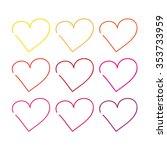 vector hearts set | Shutterstock .eps vector #353733959