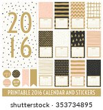 twelve month 2016 calendar... | Shutterstock .eps vector #353734895