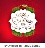 beautiful label christmas decor ... | Shutterstock .eps vector #353736887