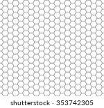 hexagon vector pattern... | Shutterstock .eps vector #353742305