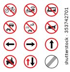 traffic signs pack set vector... | Shutterstock .eps vector #353742701
