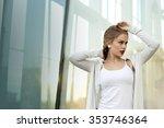 ukrainian gentle woman posing... | Shutterstock . vector #353746364